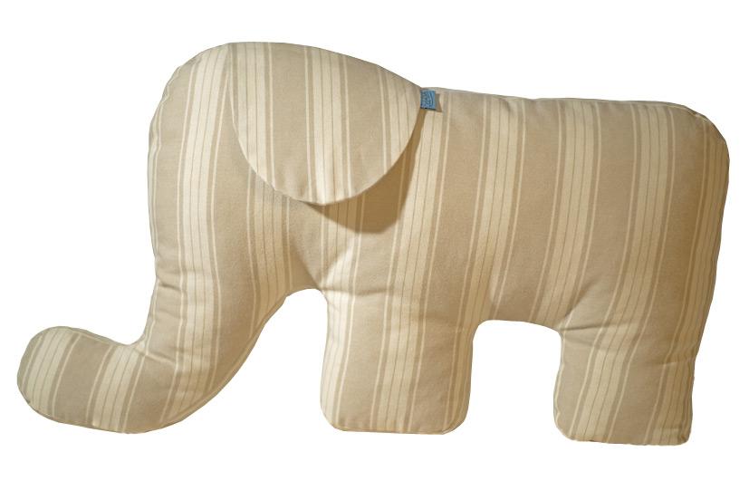 Nackenkissen Elefant.Belefanti Nackenkissen Elefant Beige Gestreift